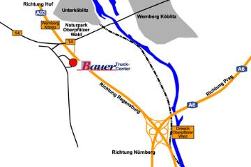 Anfahrt Truckcenter Bauer