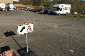 Lkw Parplatz bei FET Logistik GmbH