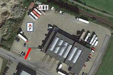Geländeansicht KRAVAG Truck Parking Parkplatz in Dissen am Teutoburger Wald in Dissen